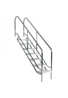 Scala d'accesso facilitato in piscina - acciaio Inox AISI316
